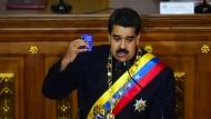 Venezuelas Staatschef Maduro während seiner dreistündigen Rede vor der Verfassungsversammlung