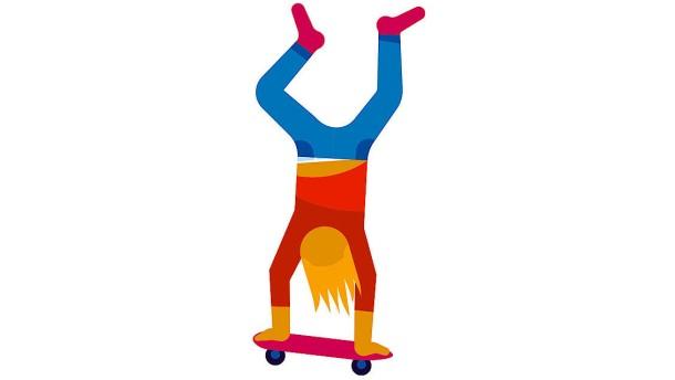 Früher galt Skaten als  gefährlich und sinnlos