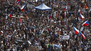 Massendemonstration in Prag