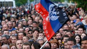 Lugansk meldet fast hundert Prozent Zustimmung