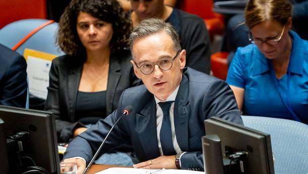 Maas hält Sicherheitsrat nur noch bedingt für handlungfähig