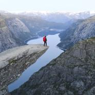 """Die Trolltunga (""""Trollzunge"""") im Nordosten Norwegens: Früher kamen 800 Besucher jährlich, dank Instagram wollen heute Zehntausende ein Foto – und Likes dafür."""