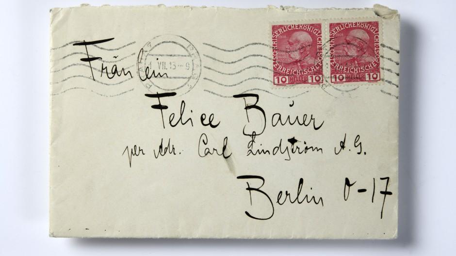 Diesen Briefumschlag bekam das Deutsche Literaturarchiv Marbach geschenkt. Sein Inhalt war einst brisant.