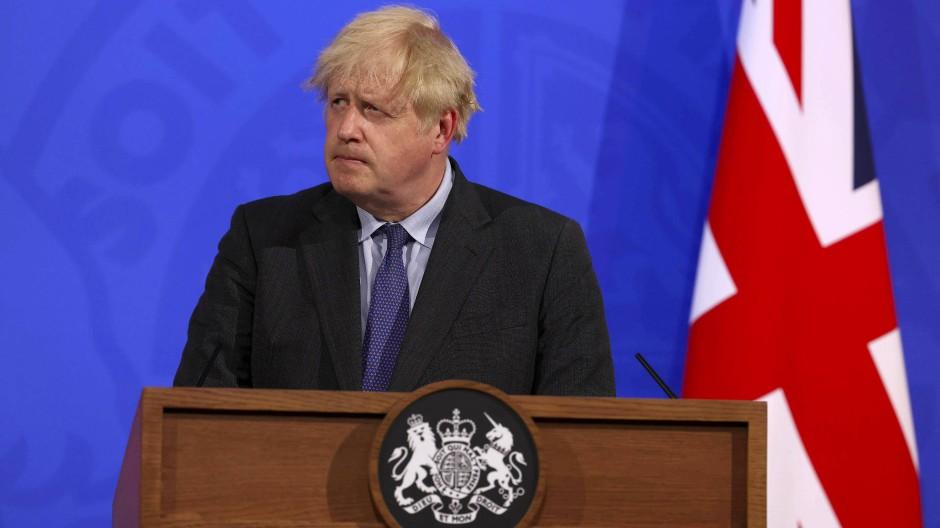 Der britische Premierminister Boris Johnson am Montag, 14. Juni, in London