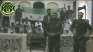 Ein Videoausschnitt zeigt die von syrischen Rebellen entführten iranischen Geiseln.