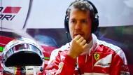 Ratlos? Sebastian Vettel bleibt in Budapest meist stumm