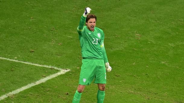 Ersatztorwart Krul ist der Held von Holland