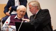 Der Angeklagte Oskar Gröning am Mittwoch im Gerichtssaal
