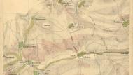 Mit Schraffen und Weinbergen: eine der nun entdeckten Karten Rheinhessens