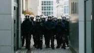 Polizei im Einsatz: Blockupy-Proteste 2015 in Frankfurt