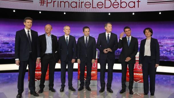 Nur keine Nähe zu Hollande zeigen
