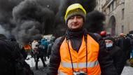 Arkadij Babtschenko als Reporter vor vier Jahren auf dem Majdan-Platz in Kiew.