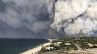 Brand bei Malibu