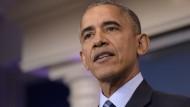 Barack Obama: der scheidende Präsident der Vereinigten Staaten