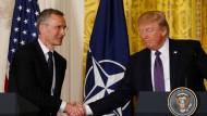 Wieder Freunde? Donald Trump und Nato-Generalsekretär Jens Stoltenberg