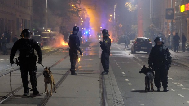 Linksradikale Demo in Leipzig eskaliert