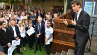 Tory-Kandidat Rory Stewart am Montag bei einer Wahlkampfveranstaltung in London