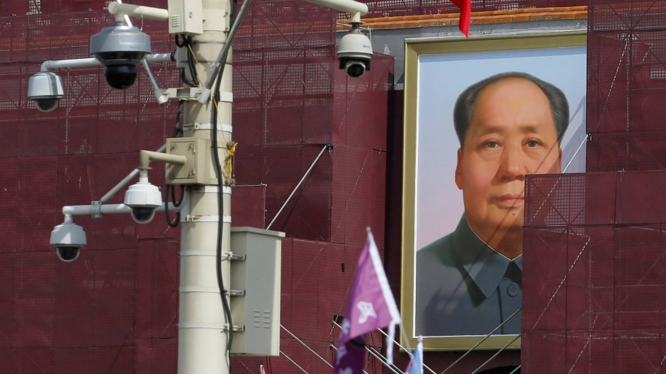 Mao Zedong-Bildnis am Tor des Tiananmen-Platzes