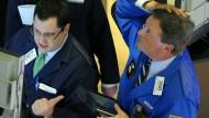 Großer Schreck: Ein Börsenhändler in New York während der Griechenlandkrise.