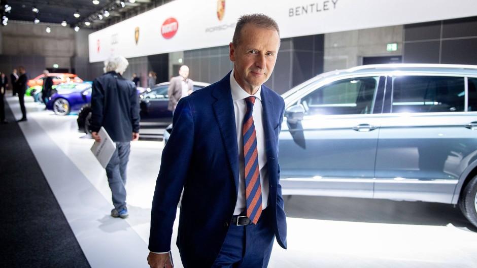 VW-Chef Diess treibt die Elektrostrategie von VW mit aller Macht voran.