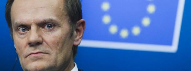"""""""Russland ist unser strategisches Problem"""", warnt der neue EU-Ratsvorsitzende Donald Tusk auf dem Gipfeltreffen in Brüssel-"""