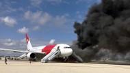Verletzte bei einem Flugzeugbrand