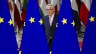 Jean-Claude Juncker, Präsident der Europäischen Kommission, kommt zum EU-Gipfel.
