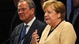 Merkel wirbt für Laschet