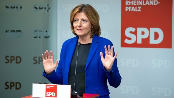 Malu Dreyer steht für die SPD-Parteispitze nicht mehr zur Verfügung