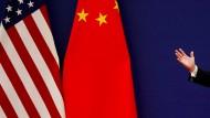 Zwischen China und Amerika gibt es Streit.