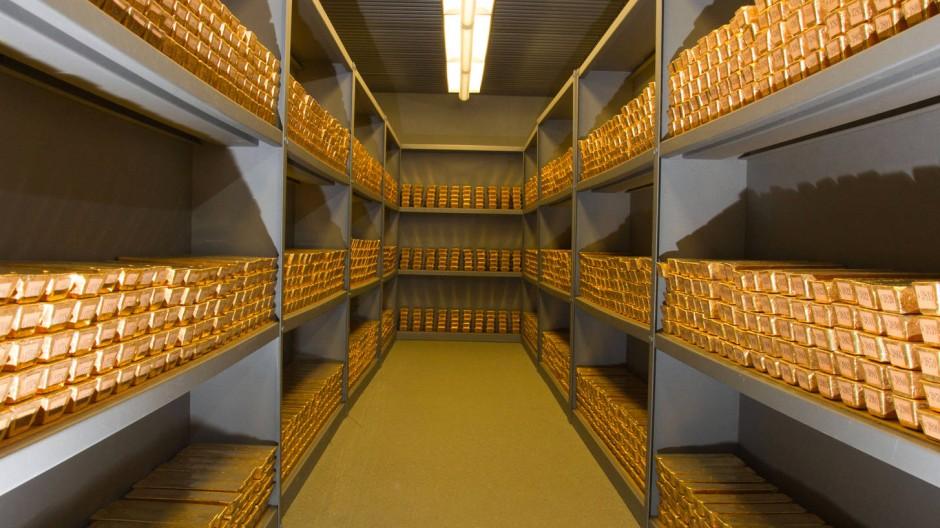Sauber gestapelt: Goldbarren in einem Tresor der Deutschen Bundesbank. Wo ist der Rest?