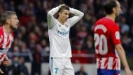 Zum Haareraufen: Ronaldo trifft auch gegen Atlético nicht.