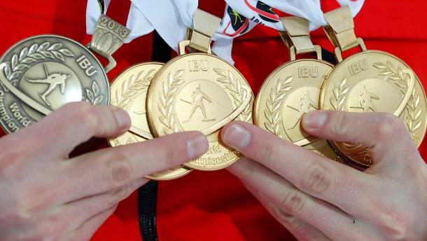 Alle Medaillengewinner der Biathlon-WM