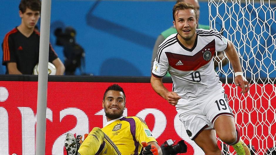 Wo waren Sie in diesem Moment? Mario Götze kurz nach dem WM-Sieg-Treffer 2014