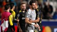 Dortmunds Torhüter Roman Bürki enttäuscht beim Spiel gegen Nikosia.