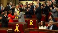 Die erste Sitzung des neuen Parlaments