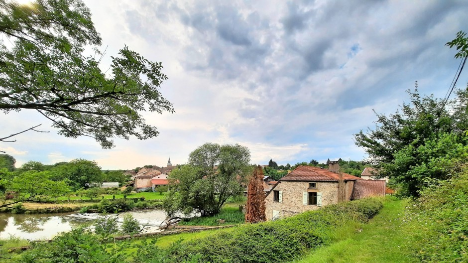 Zum Träumen: alte Mühle an der Saône im Örtchen Jonvelle