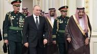 Putin am Montag zu Besuch beim saudischen König Salman in Riad.