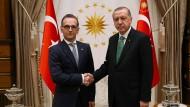 Viel zu kitten: Maas und Erdogan am Mittwoch in Ankara
