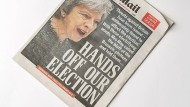 """""""Daily Mail"""" headlines: """"Hands off our election"""""""