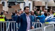 Typ Vorzeige-Schwiegersohn: Der Vorsitzende der Schwedendemokraten Åkesson während einer Wahlkampfveranstaltung