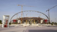 Die Baustelle des Khalifa International Stadiums in Doha.