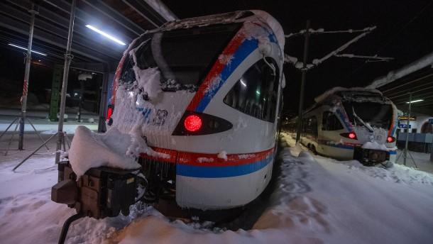 Neue starke Schneefälle in Oberbayern erwartet