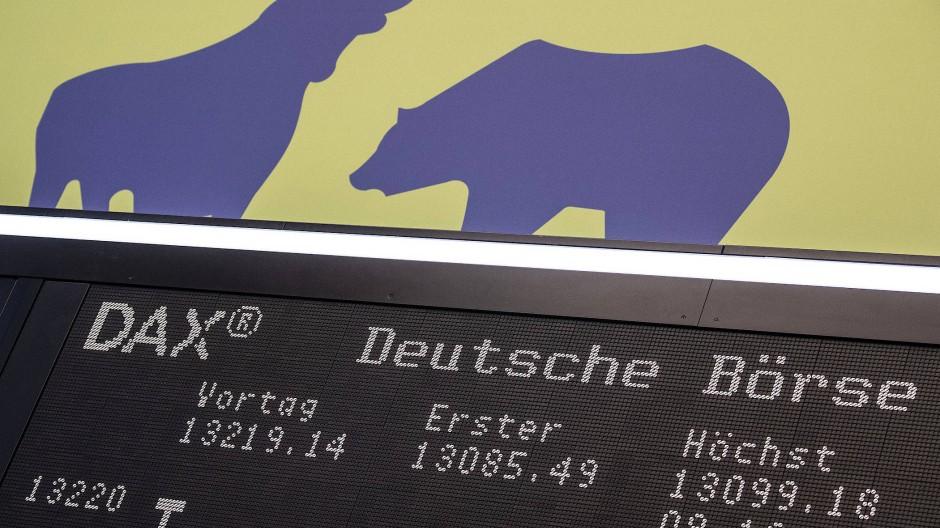 Bulle und Bär an der Frankfurter Börse