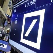 Krisenpapier: das Deutsche-Bank-Logo an der New Yorker Börse