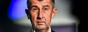Der Sieger der tschechischen Parlamentswahl Andrej Babis am Samstagabend in Prag
