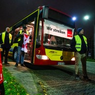 Die Fahrer privater Busunternehmer in Hessen wollen ihren Streik auch am Samstag und Sonntag fortsetzen.