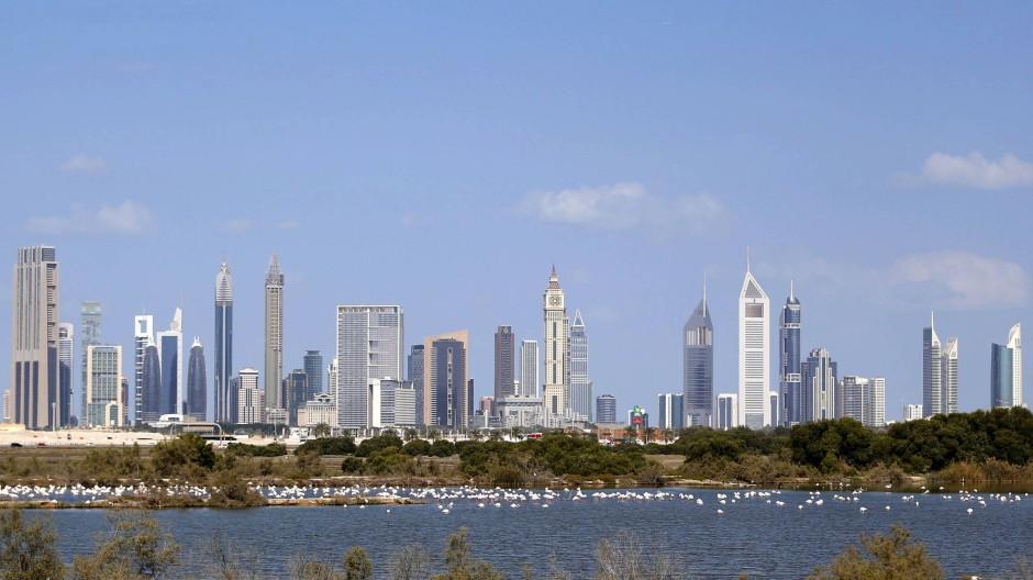 Unerreichbar für die meisten syrischen Fküchtlinge: Die Skyline von Dubai.