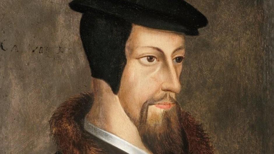 Jean Calvin, den die Deutschen Johannes nennen, gemalt von einem unbekannten Meister