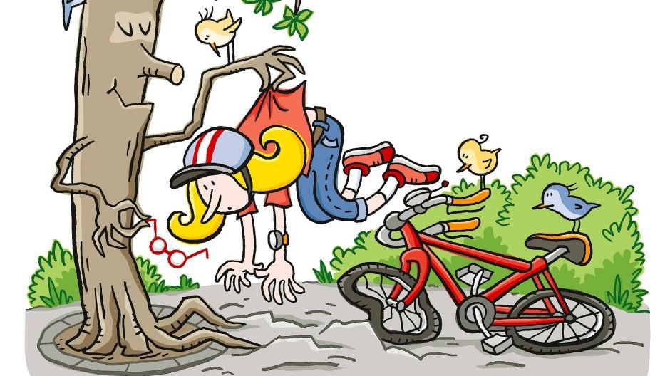 Wellenformation: Wird das Pflaster viel zu nah an den Baum gelegt, heben die Wurzeln den Bodenbelag und bremsen so auch manchmal die Radfahrer aus.